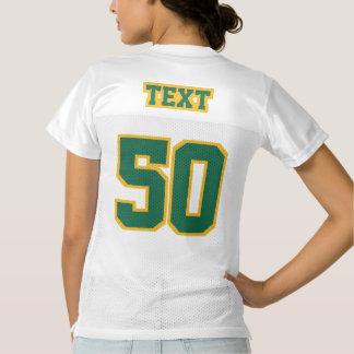 2 Side DARK GREEN GOLD WHITE Women Football Jersey