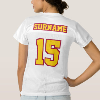 2 Side GOLDEN YELLOW MAROON WHITE Womens Jersey