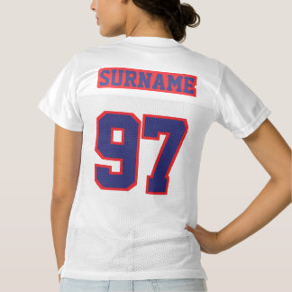 2 Side NAVY BLUE RED WHITE Womens Sport Jersey