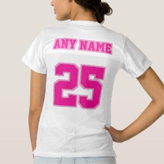 2 Side PINK WHITE Women Football Jersey