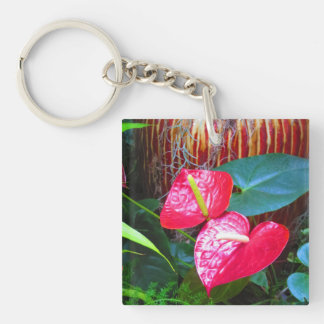 2 side Printed DIY easy add or replace photo image Single-Sided Square Acrylic Key Ring