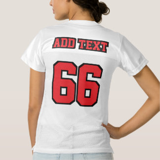 2 Side RED BLACK WHITE Womens Football Jersey