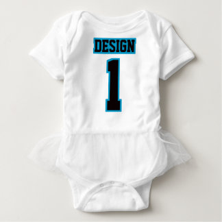 2 Side WHITE BLACK BLUE Tutu Football Babywear Baby Bodysuit