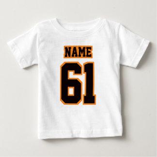 2 Side WHITE BLACK ORANGE Football Crewneck Infant T-Shirt