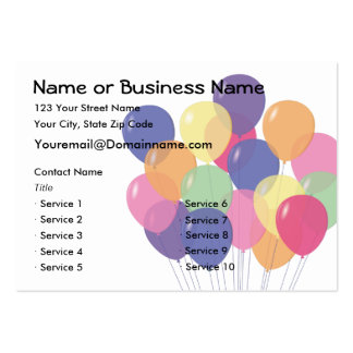 2 Sided Balloon Business Card