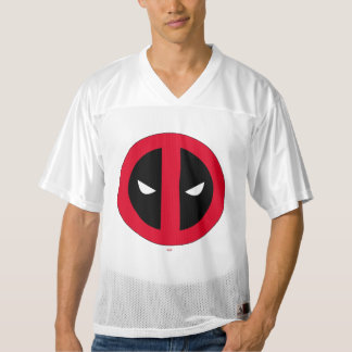 2 Sided Deadpool Logo | Add Your Name Men's Football Jersey