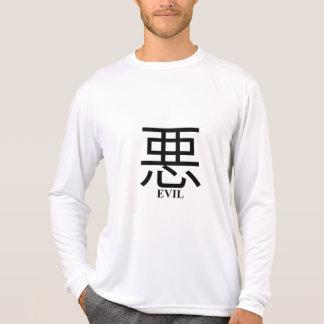 2 Sided Evil Kanji Men's Micro Fiber Long Sleeve T-shirts