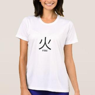 2-Sided Fire Kanji Ladie's Micro Fiber T-Shirt