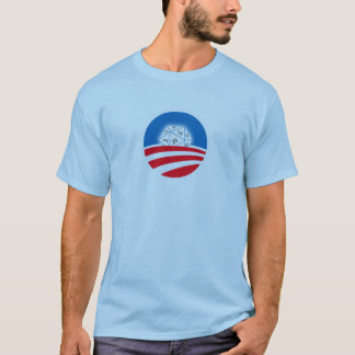 2 sided Pro-Obama D&D crowd (blue) T-Shirt