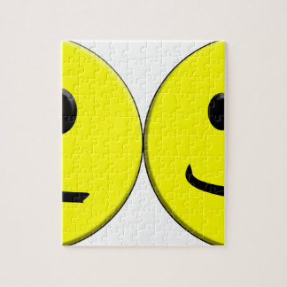 2 Sides of the Same Face Jigsaw Puzzle