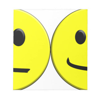 2 Sides of the Same Face Notepad