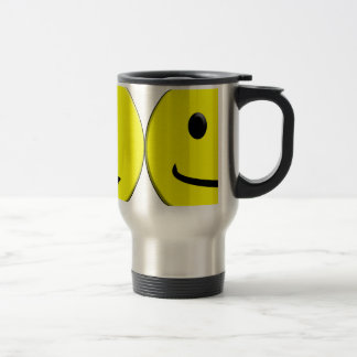 2 Sides of the Same Face Travel Mug