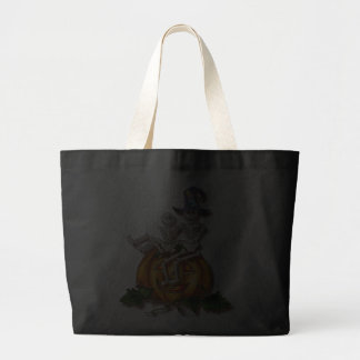 2 SKELETONS & HAT by SHARON SHARPE Canvas Bags
