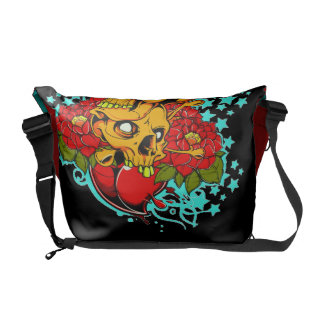 2 Skulls Courier Bags