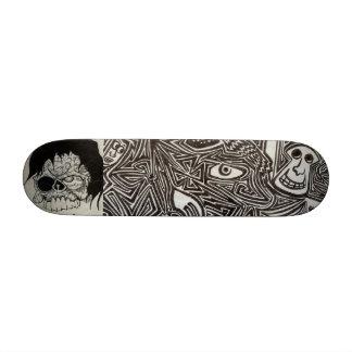 2 - Skulls Psychedelic Lines Skateboard Deck