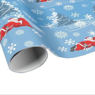 2 Sleeping Santa Wrapping Paper