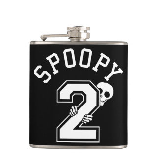 2 Spoopy Athletic Lettering Hip Flask