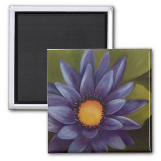 """2"""" Square Water Lily Magnet"""