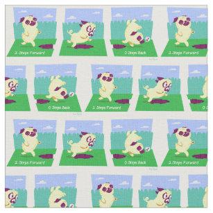 cf6f0377402 Cute Pug Fabric