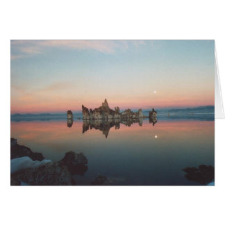 2. Sunset / Moonrise at Mono Lake Card