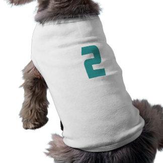 #2 Teal Bold Dog T-shirt