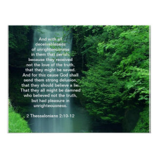 2 Thessalonians 2:10-12 Posters