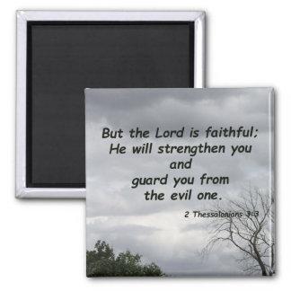 2 Thessalonians 3:3 Square Magnet