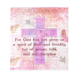 2 Timothy 1:7  Biblical quote scripture Notepad
