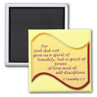2 Timothy 1:7 Magnets
