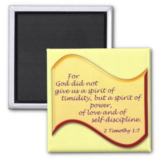 2 Timothy 1:7 Magnet