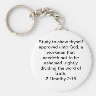 2 Timothy 2:15 Key Ring
