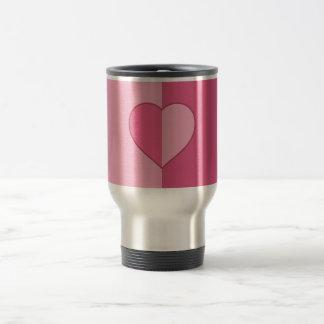 2-Tone Pink with Heart Travel Mug