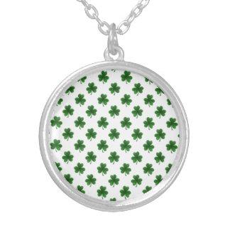 2-Tone Shamrock Green on White St.Patrick's Clover Jewelry