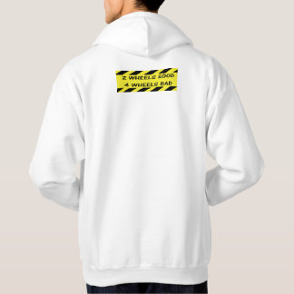 """2 wheels good"" cycling hoodies for money"