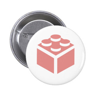 2 x 2 Brick by Customise My Minifig Pinback Button