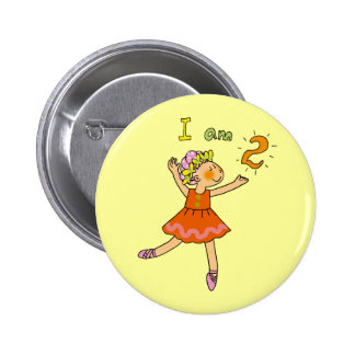 2 year old ballerina pinback button