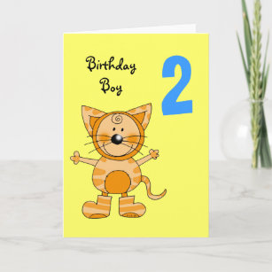 2 Year Old Birthday Boy Card