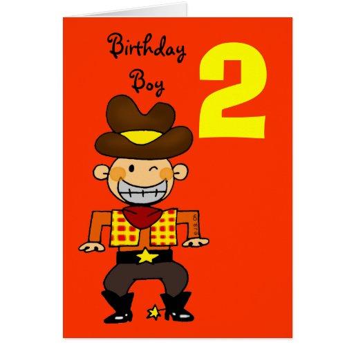 2 year old birthday boy cards