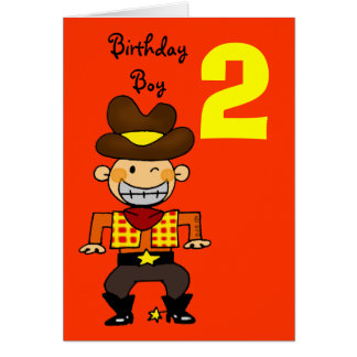 2 year old birthday boy greeting card