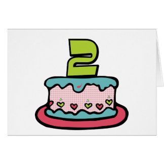 2 Year Old Birthday Cake Cards