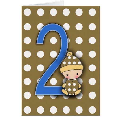 2 Year Old Boy Birthday Card