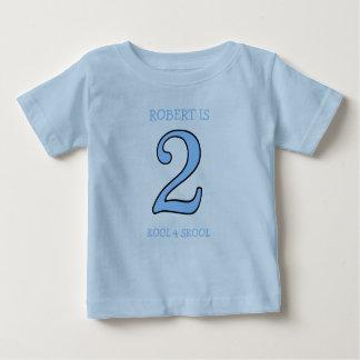 2 Year Old Boy Birthday Too Cool for School Shirt