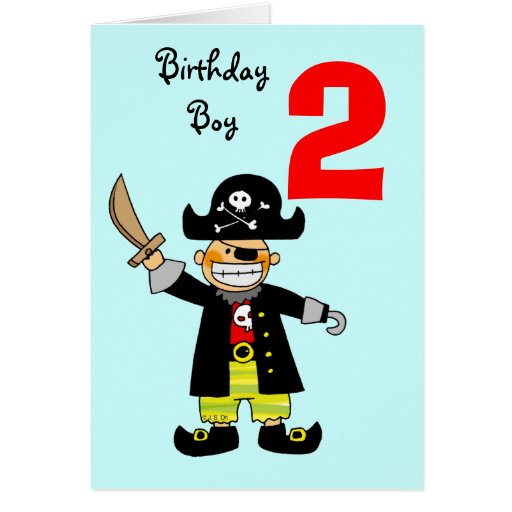 2 year old pirate boy cards