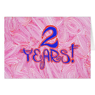 2 Years Sobriety Birthday / Anniversary Card