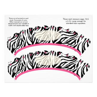 2  Zebra design Custom Cupcake Wrappers 21.5 Cm X 28 Cm Flyer