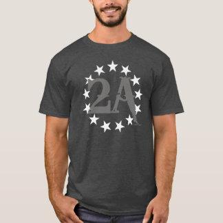 2A 2nd Amendment 13 Stars American Flag (Grey) T-Shirt