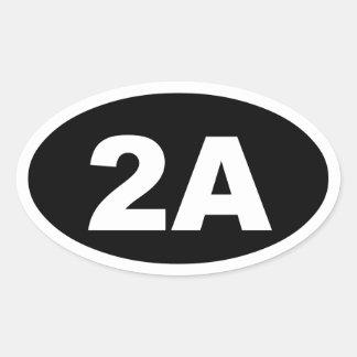 2A sticker (black)