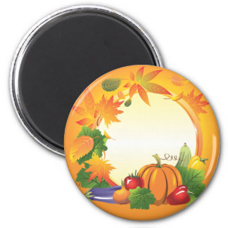 2ai, fall, harvest, wreath, colourful, vegetables, magnet
