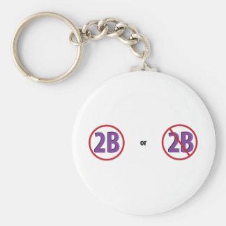 2B BASIC ROUND BUTTON KEY RING