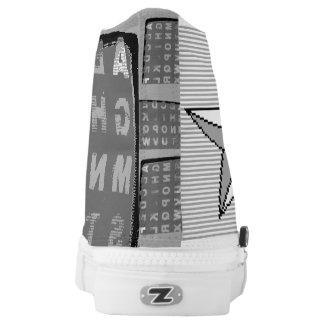 2Bit Zip Shoe Printed Shoes